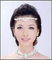 HG008-Free shipping RHINESTONE Bridal band/clip BIG re shape CROWN Tiara Bridal Wedding Party JEWELRY