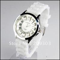 200 pcs/lot Charm High Quality Jelly Silicone Watch Chrysanthemum Quartz Wrist Watch Colorful Flower Watch Hot Sale