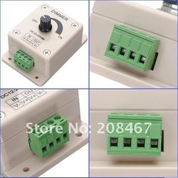 New Arrival] Free shipping 2pcs/lot 12V 8A 96W Adjustable Brightness Controller LED Dimmer(China (Mainland))