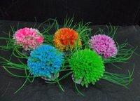 Free shipping 15 pcs/bag aquarium multicolor flower