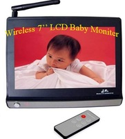 Free shipping New arrival 2.4GHz wifi wireless baby moniter,7 inch LCD big moniter with camera wholesale/retail  Chirstmas gift