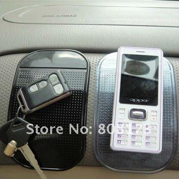 DHL Free Shipping 100Pcs/Lot Magic Pu Sticker Pad Car Inner Accessories Auto Dashboard Non Slip Mat For Mobile Phone GPS MP3