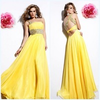 Hot selling fashion one shoulder sheath floor length appliqued beaded chiffon christmas party dresses 2011