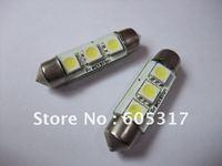 Wholesale 10pcs/lot DC 12V 39mm 3SMD 5050 LED Car Auto Light Bulbs LED License Plate Light LED Festoon Light Bulbs