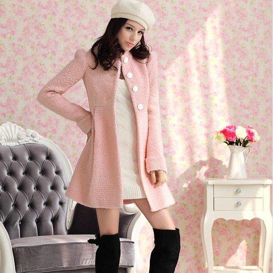 Women Pink Coat
