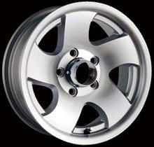 Aluminum alloy Trailer wheels rims 14x6 5-4.5 0mm 83.82mm Machine W/Silver Window for sale(China (Mainland))