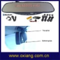 Bluetooth stereo Handsfree rearview Mirror(OX-BR628)+Built-in FM frequency transmitter +free shipping cost