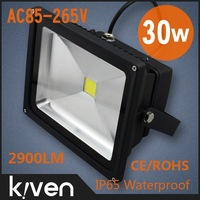 2 Pieces/lot, 30W 85-265V led flood light bulbs,black housing with 2 years warranty,IP65,30W led luminaire,freeshipping