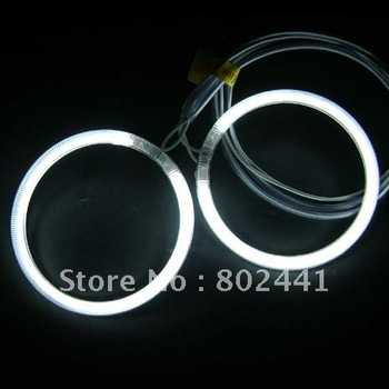 Hot Sales 4pcs ring and 2drive /set , Super White  color CCFL Angel Eye Ring Kit for 97mm Rings