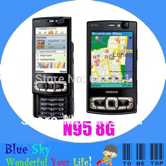 Swiss post free shipping 8G internal memory GPS WIFI NOKIA N95 8G original quad band phone(China (Mainland))