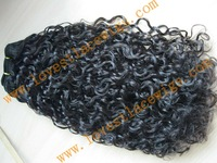 Best selling curly indian remy hair mixed color hair weft