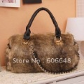 free shipping,good quality ladies bag, fashion rabbit hair handbag, Star's favorite Hobos bag,slap-up shoulder bag,The best gift