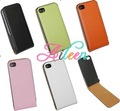 Free shipping by DHL 100pcs Chromatic Genuine Leather Skin Case Cover for iphone 4 4G 4S,For iphone 4 4G 4S leather case