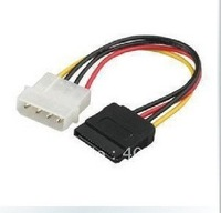 Free shipping 50pcs SATA power cable / 4 pin  switch  serial  power cable / SATA to IDE hard drive line