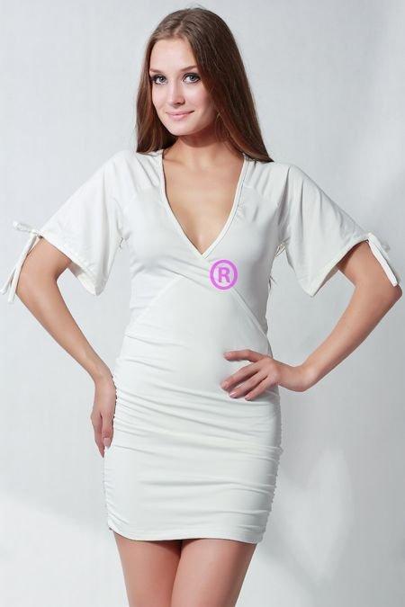 Women White Short Sleeve