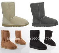 Free shipping (minimum:1 piece) guaranteed 100% genuine leather wool boots, wholesale and retail boots 5800