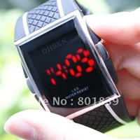 Mens Ladies Digital Led Sport Wrist Watch OHSEN Fashion 12/24H Year Date Nice Xmas Gift Wholesale Price A032