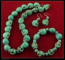 Handmade Brand new gemstone jewery set with Skull Turquoise beads.fashion and Popular.TS-084(China (Mainland))