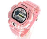 OHSEN Digital Sport Water Resistant Ladies Girls Wrist Watch New wholesale price with tracking number Pink A401