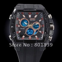 OHSEN Digital Analog Multiunctional Alarm Men's Sport Wrist Watch Black New Nice Gift With Tracking Number Wholesale Price A092