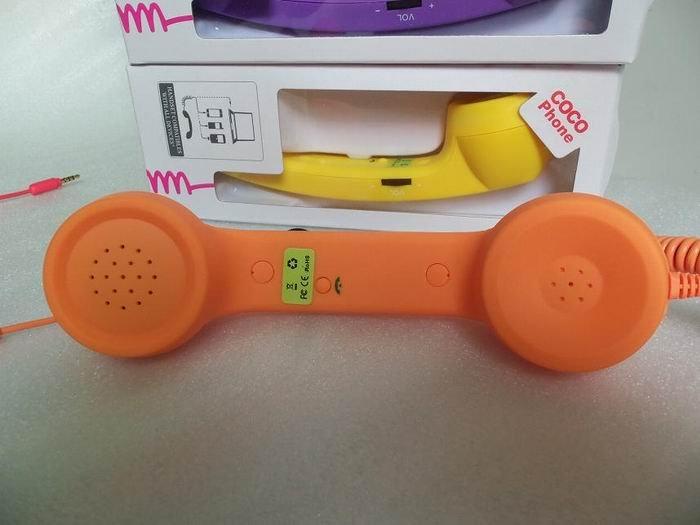 Wholesale - 20pcs/lot Portable Native Moshi POP Union Phone Handset for 3.5mm.phone the retrol handset.Via EMS(China (Mainland))