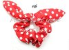 kawayi rabbit bunny ears red polka dot hair holder tie rope ponytail holder,wholesale free shipping,50pcs/lot,FF1111-07