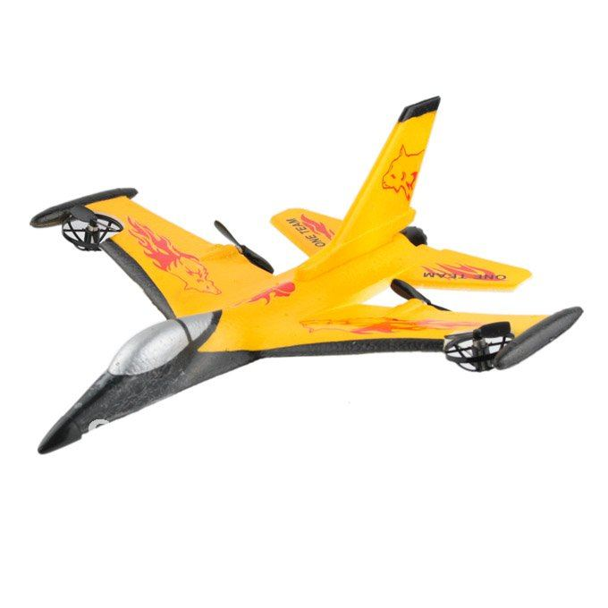 Wholesale-4CH RC Remote Controlled Fighter Plane F-16 Fighting Falcon Model Durable EPP Material Glider Yellow 901751-CAR112204(China (Mainland))
