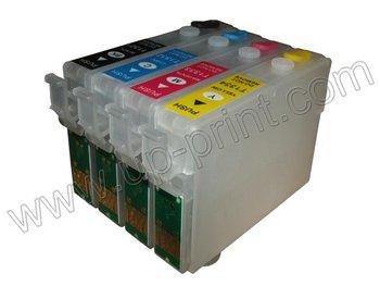 T1401 - T1404 20 set/lote nueva recargables vacíos cartuchos de tinta para Epson TX620FWD TX560WD las virutas del arco envío gratis