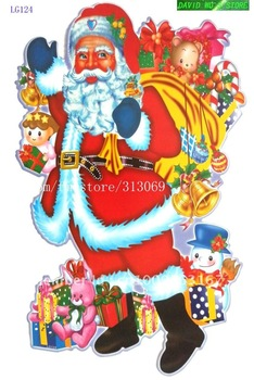 Free shipping, 60*32CM, DIY Home Decoration, Christmas Wall Stickers, displaywindow stickers, wholesale 8pcs/lot