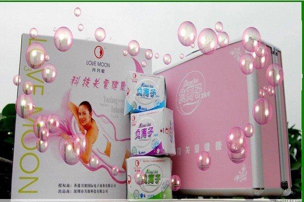 Feminine Hygiene Product Winalite Lovemoon Anion Sanitary sanitary towels pads protection napkin free shipping 19pcs/lot(China (Mainland))