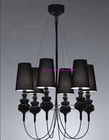 Free Shipping Hot Selling Wholesale Spain Replica Josephine Queen 6 Chandelier Black Pendant Lamp