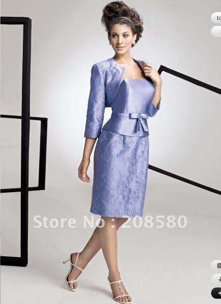 Christmas gown ideas karachi - Purple square neck sheath short kneelength lace mother dresses suits