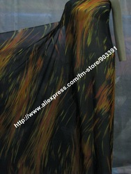 STUNNING 100% Silk Printed Chiffon Fabric Material for Silk Dress Blouse Scarf C3287(China (Mainland))
