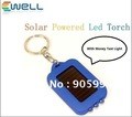 Colorful Mini Solar Touch, Rechargeable LED Flashlight,with money test light,40pcs/lot Free Shipping