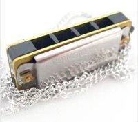 Key Chain SWAN Harmonica 4 hole 8 Tone Key of C Silver color Mini Harmonica