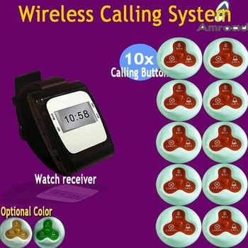 1 set Wireless Call Calling Waiter Server Paging Service System for Restaurant Pub Bar etc,AT-WC0110