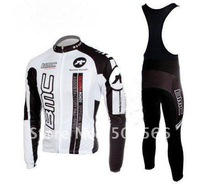 High Quality 2011 BMC Best Selling Winter Fleece Long Sleeve Cycling Jerseys+ Bib Pant Set/Cycle Wear/Biking Jersey/Bike