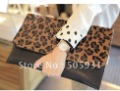 2011newest woman handbags fashion leopard leather clutch bag,dinner bag, purse,free shipping,wholesale