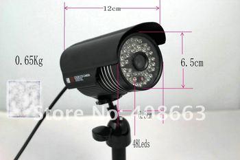 Black 48leds hot SECURITY SURVEILLANCE OUTDOOR IR CCTV COLOR sharp420TVL  CAMERA S6501