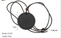 Black Volcanic Lava Rock Quantum Pendant Necklace, Natural Scalar Energy Health Pendant 30pcs/lot