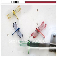 50pcs Vivid Colorful 13*9CM big size Dragonfly Fridge Magnet Home Office Decoration Promotion gift