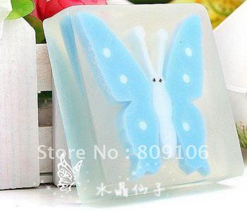 Wholesale ,Freeshipping 12pcs cuteTransparent soapHandmade Soap/fine volatile oil live skin soap
