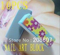 Nail Buffer Nail File Freeshipping Nail Art Nail Polish Tool 4Way Color Shiner Buffer  Nail Buffing Sanding Block 100pcs/Set