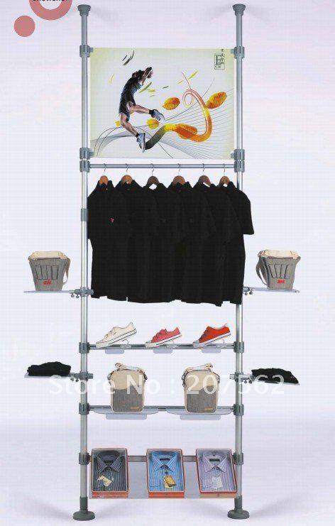 stand photo boni perche télescopique; stand de bannière; ceilling intérieur- chaussures de sol& s-tdg-10 vêtements présentoir(China (Mainland))
