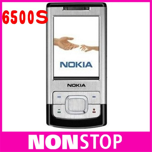 unlocked original brand NOKIA 6500s 6500 slide cell phones 3G Bluetooth mp3 player 3.2MP original phones(China (Mainland))