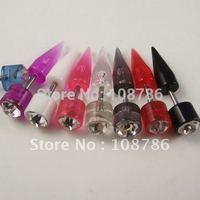 48pcs Free Shipping Wholesale Ear Nail Ear Stud Piercing Jewelry Body Jewelry Piercing Acrylic Earring Fake Ear Plug