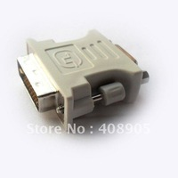Free shipping! wholesale 100pcs lots DVI 24+1pin port  to VGA adapter converter M/F M F DVI-D DVI via DHL
