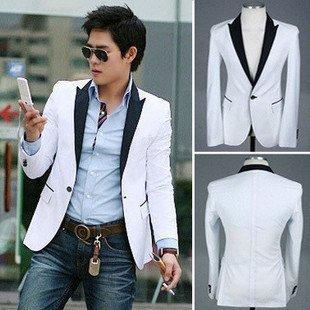 Free Shipping Fashion Men Suit , Brand Name Suit , White Men Suit Size:M-L-XL-XXL