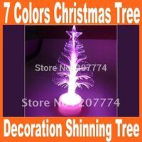 20pcs/lot freeshipping USB 7colors Christmas tree decoration shinning tree gift wishing tree Free Shipping