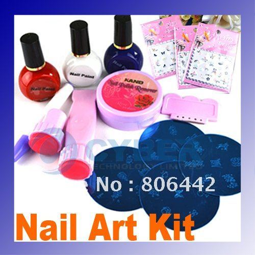 16x 8 Kinds Newest Free Shipping Beauty Nail Art Sticker Tips Metallic Foils Patch Decoration freeshipping
